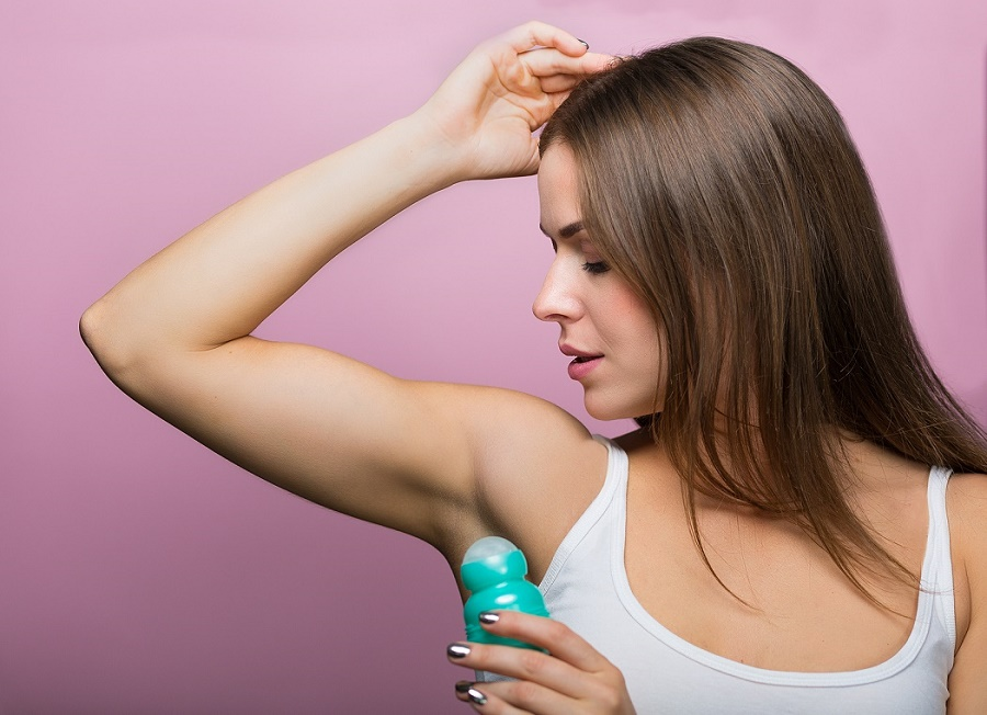 Woman With A Natural Deodorant