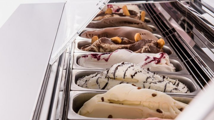 ice cream display counters