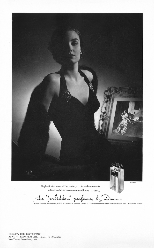 1943 tabu perfume ad retro