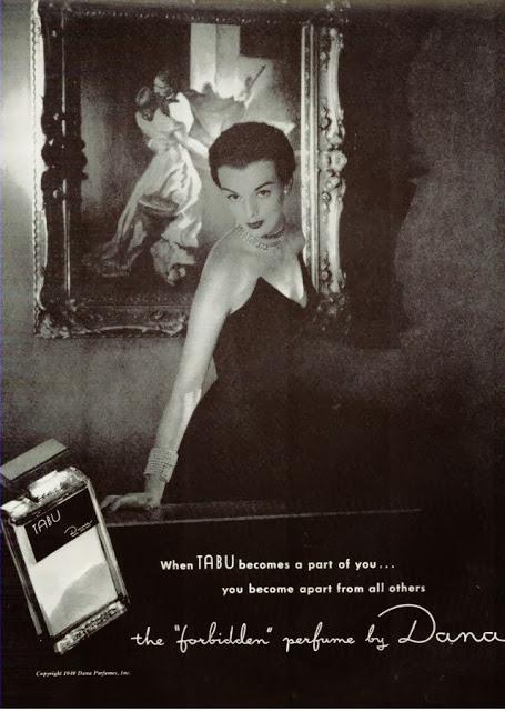 tabu perfume vintage ad 1949