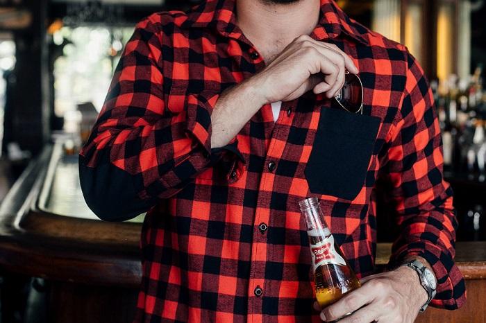guy wearing flannel shirt