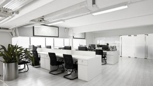 vinyl flooring in a modern office