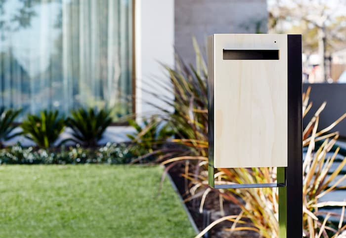 stainless steel letterbox modern