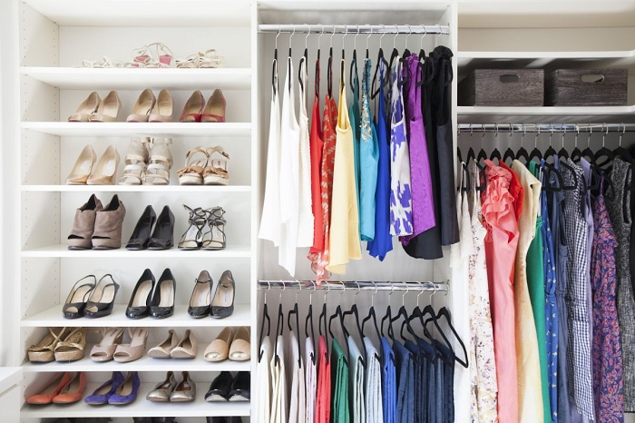 a well organised closet