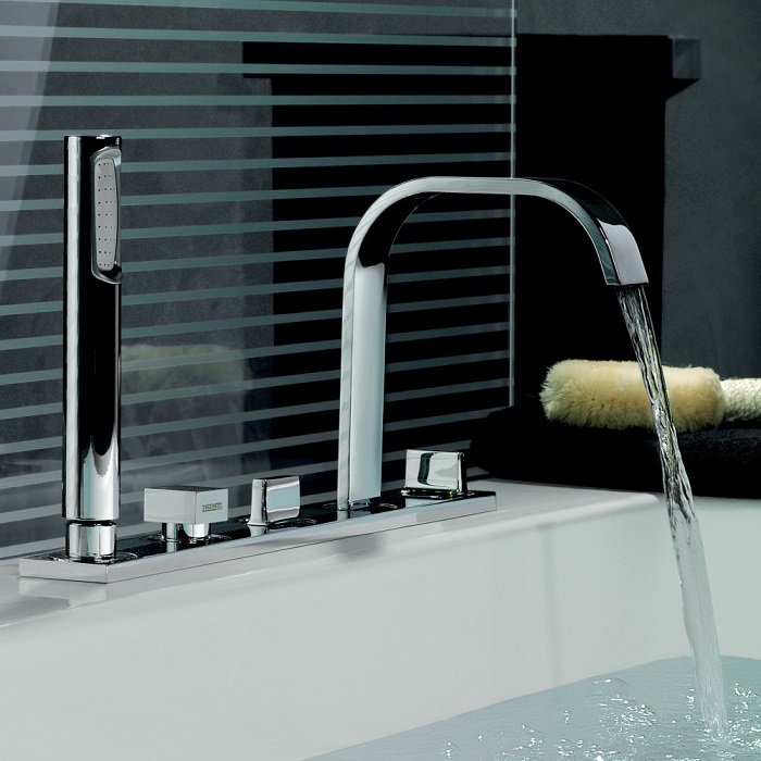 picture of a bathroom tapware like waterfall