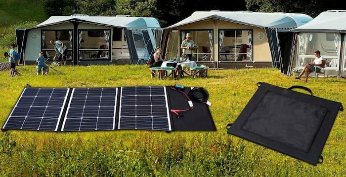 portable solar camping bag