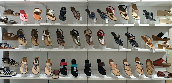 picture of assorted colorful footwear flip-flop sandals