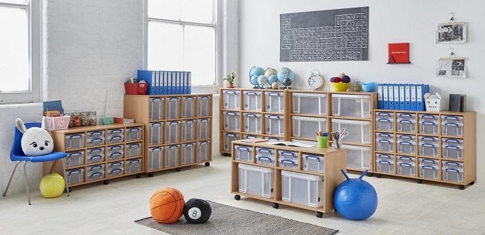 item storage in classroom