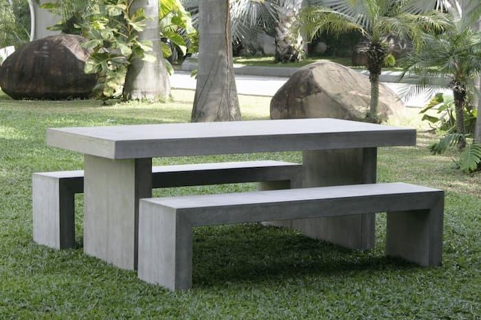 concrete outdoor furniture