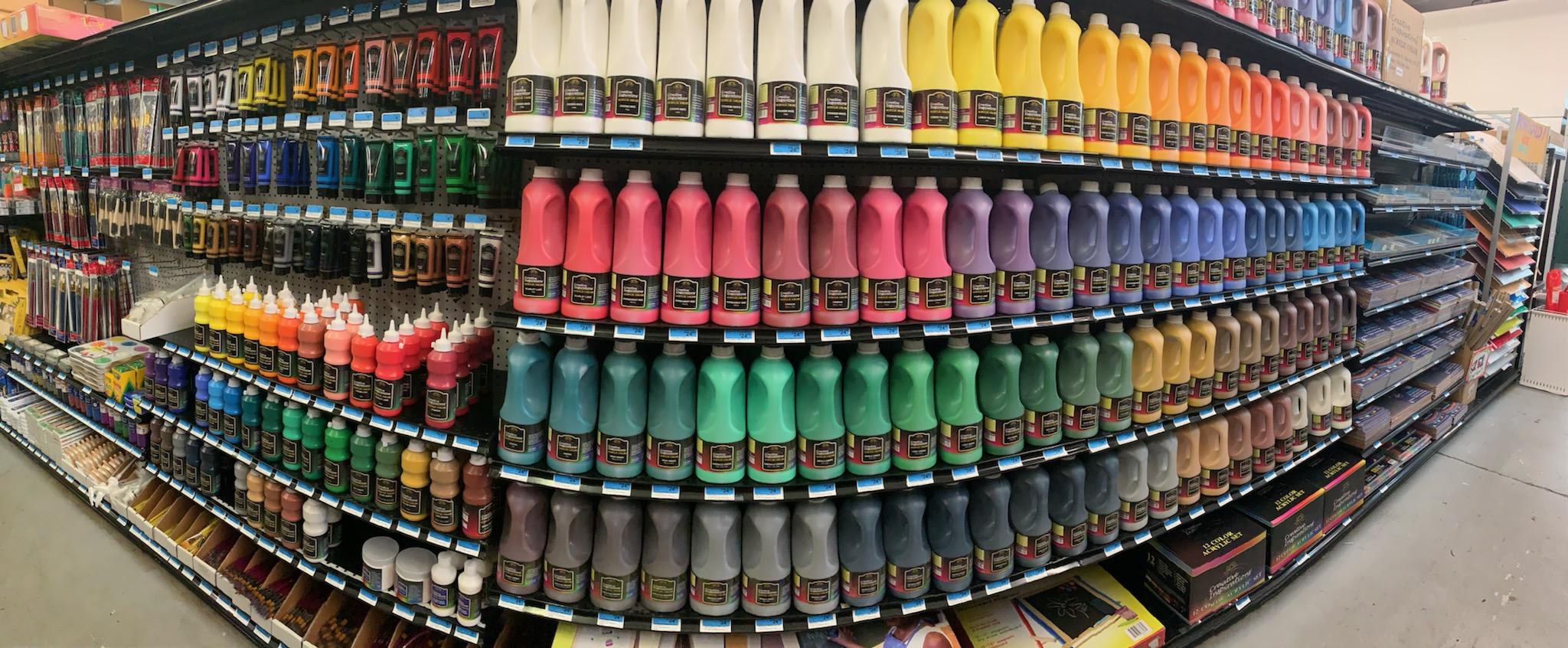 Well-Stocked art supplies