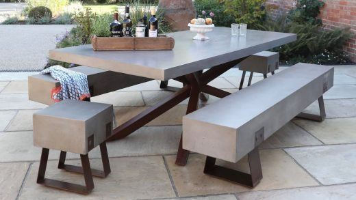 concrete furniture outdoor
